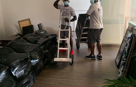 Olympic Moving Dallas Texas Unloading Residential